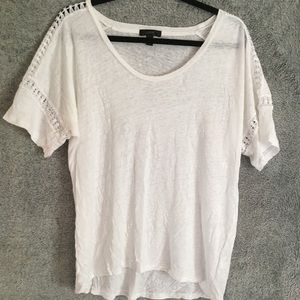 J Crew Burnout White Tee